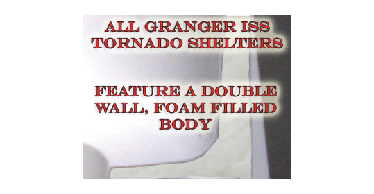 Tornado Shelter, Storm Shelter, Double Wall Foam Filled Construction